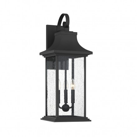 Savoy House Europe Hancock Matte Black 3 Light Outdoor Sconce