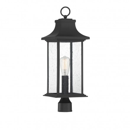 Savoy House Europe Hancock Matte Black 1 Light Outdoor Post Lantern