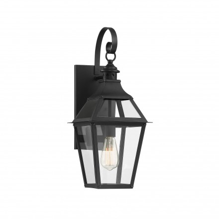 Savoy House Europe Jackson Black With Gold Highlighted 1 Light Outdoor Sconce
