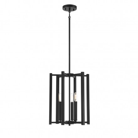Savoy House Europe Benson 3 Light  Matte Black Pendant