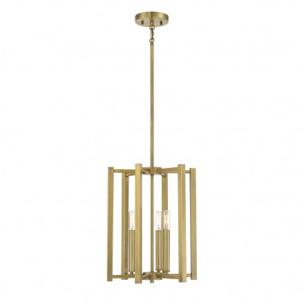 Savoy House Europe Benson 3 Light  Warm Brass Pendant