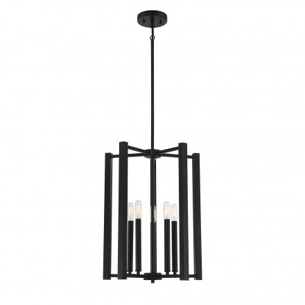 Savoy House Europe Benson 5 Light Matte Black Pendant