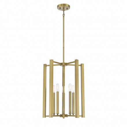 Savoy House Europe Benson 5 Light  Warm Brass Pendant