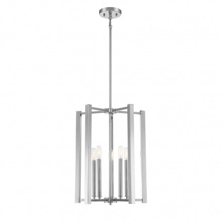 Savoy House Europe Benson 5 Light Polished Nickel Pendant