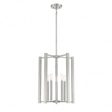 Savoy House Europe Benson 5 Light Satin Nickel Pendant