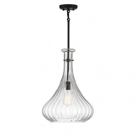 Savoy House Europe Bristo 1 Light  Matte Black Pendant