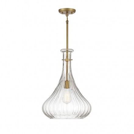 Savoy House Europe Bristo 1 Light  Warm Brass Pendant