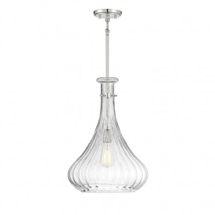 Savoy House Europe Bristo 1 Light  Polished Nickel Pendant