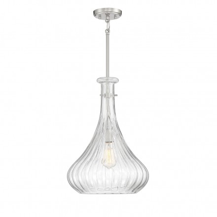 Savoy House Europe Bristo 1 Light Satin Nickel Pendant