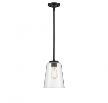 Savoy House Europe Calhoun 1 Light  Matte Black Large Mini-Pendant