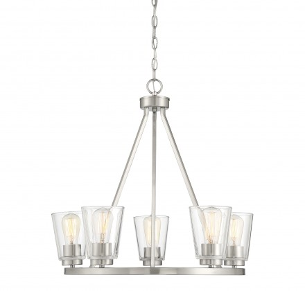 Savoy House Europe Calhoun 5 Light Satin Nickel Chandelier