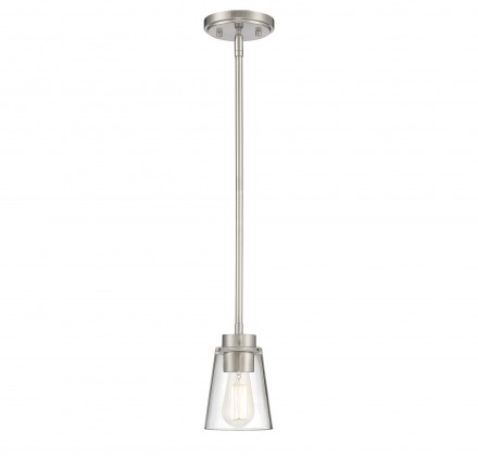 Savoy House Europe Calhoun 1 Light Satin Nickel Small Mini-Pendant