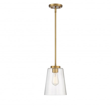 Savoy House Europe Calhoun 1 Light Warm Brass Large Mini-Pendant