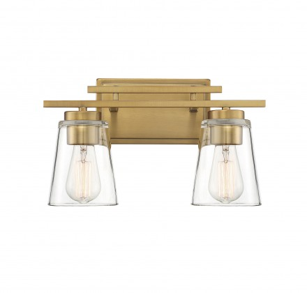 Savoy House Europe Calhoun 2 Light Warm Brass Bath Bar