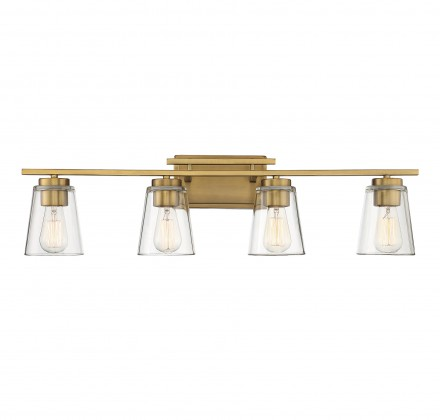 Savoy House Europe Calhoun 4 Light Warm Brass Bath Bar