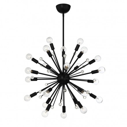 Savoy House Europe Galea 24 Light  Matte Black Chandelier