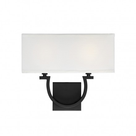 Savoy House Europe Rhodes 2 Light Matte Black Sconce