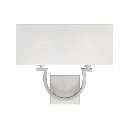 Savoy House Europe Rhodes 2 Light Satin Nickel Sconce
