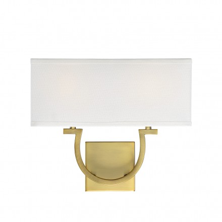 Savoy House Europe Rhodes 2 Light Warm Brass Sconce
