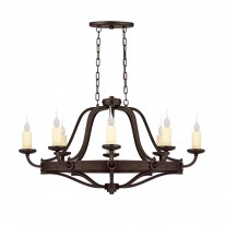Savoy House Europe Elba 8 Light Oval Chandelier