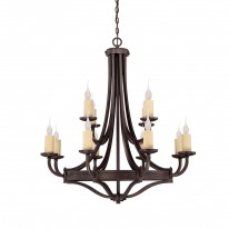 Savoy House Europe Elba 12 Light Chandelier