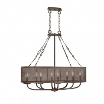 Savoy House Europe Nouvel 8 Light Oval Chandelier