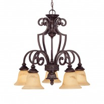 Savoy House Europe Knight 5 Light Down Chandelier