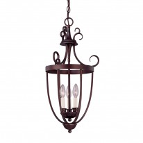 Savoy House Europe Entry Lantern 3 Light Hanging Lamp 4