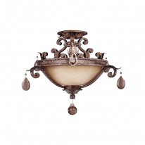 Savoy House Europe Chastain 3 Light Semi-Flush Lamp