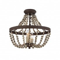 Savoy House Europe Mallory 3 Light Convertible Semi-Flush